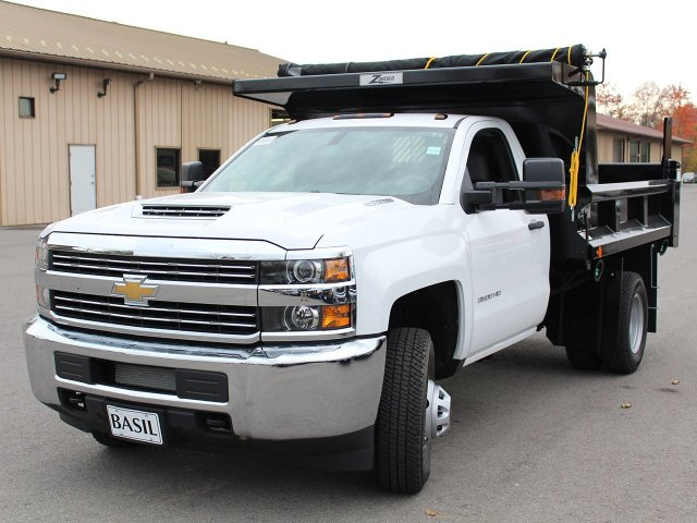 2017 Silverado 3500 Regular Cab DRW 4x4, Rugby Dump Body #17C274T - photo 8