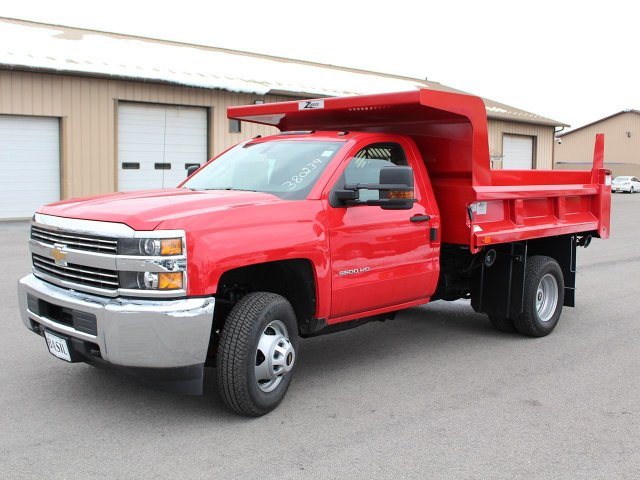 2017 Silverado 3500 Regular Cab DRW 4x4, Rugby Z-Spec Dump Body #17C306T - photo 3