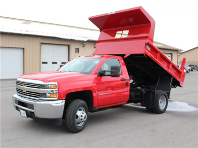 2017 Silverado 3500 Regular Cab DRW 4x4, Rugby Z-Spec Dump Body #17C306T - photo 5