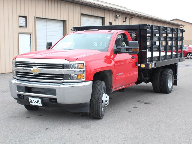 2017 Silverado 3500 Regular Cab DRW 4x4, Knapheide Stake Bed #17C312T - photo 9