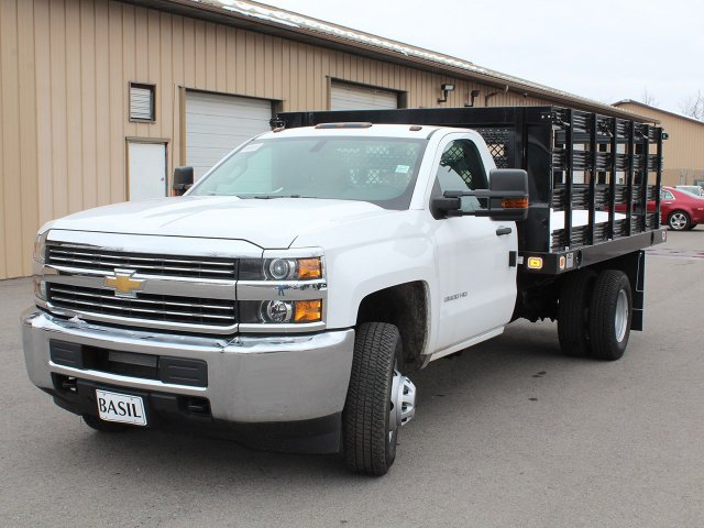 2017 Silverado 3500 Regular Cab DRW 4x4, Knapheide Stake Bed #17C315T - photo 8