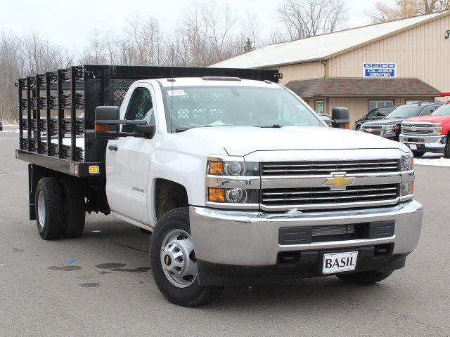 2017 Silverado 3500 Regular Cab DRW 4x4, Knapheide Stake Bed #17C315T - photo 9