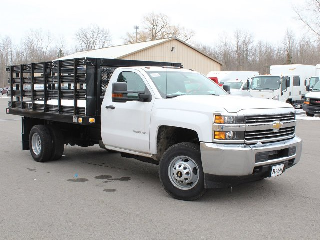 2017 Silverado 3500 Regular Cab DRW 4x4, Knapheide Stake Bed #17C315T - photo 24