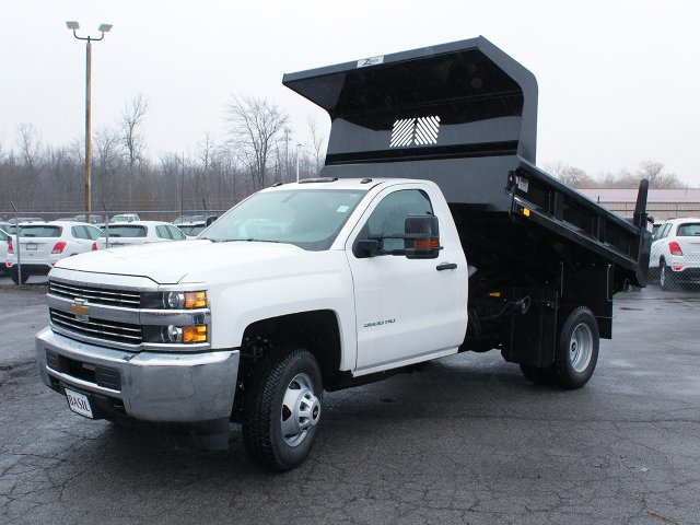 2017 Silverado 3500 Regular Cab DRW 4x4, Rugby Dump Body #17C319T - photo 9