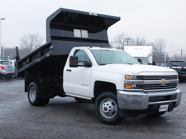 2017 Silverado 3500 Regular Cab DRW 4x4, Rugby Dump Body #17C319T - photo 10