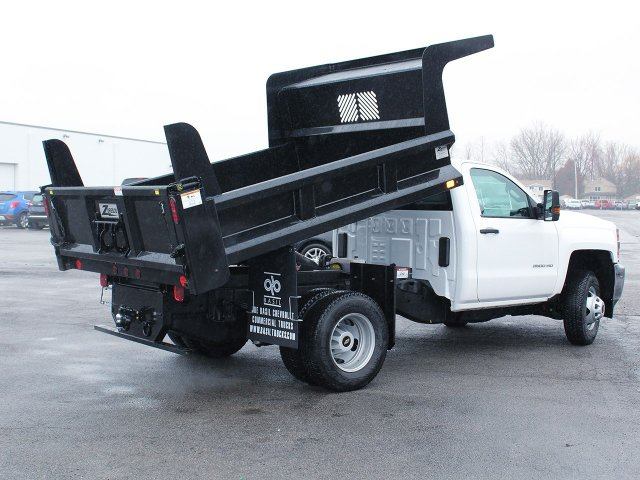 2017 Silverado 3500 Regular Cab DRW 4x4, Rugby Dump Body #17C319T - photo 12
