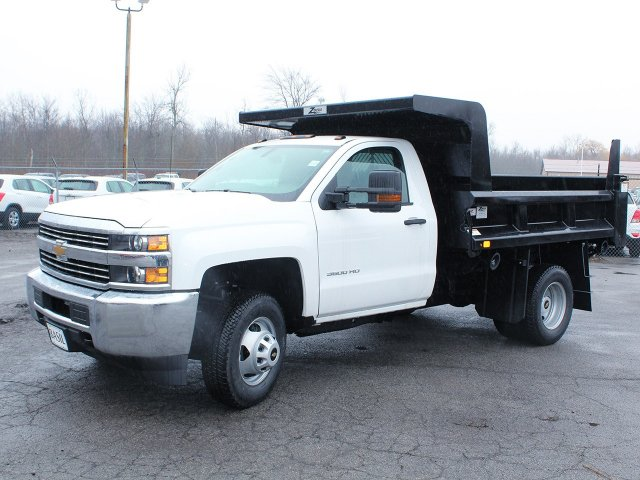 2017 Silverado 3500 Regular Cab DRW 4x4, Rugby Dump Body #17C319T - photo 3