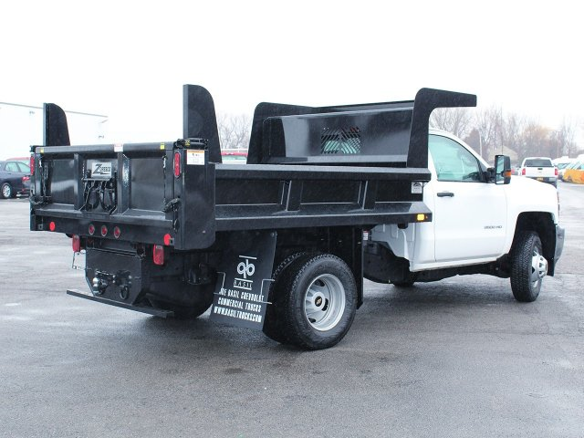 2017 Silverado 3500 Regular Cab DRW 4x4, Rugby Dump Body #17C319T - photo 2