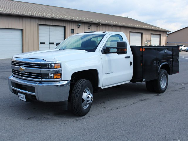 2017 Silverado 3500 Regular Cab DRW 4x4, Knapheide Service Body #17C323T - photo 3