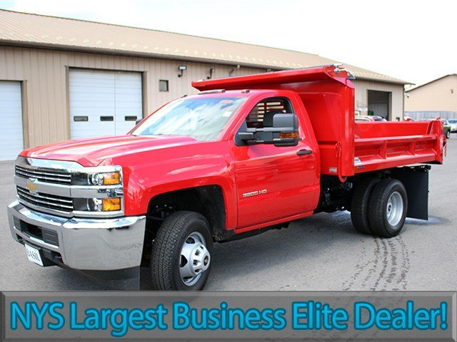 2017 Silverado 3500 Regular Cab DRW 4x4, Crysteel Dump Body #17C36T - photo 3
