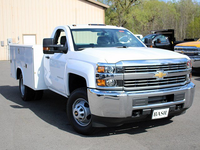 2017 Silverado 3500 Regular Cab DRW 4x4, Reading Service Body #17C62T - photo 8