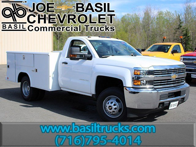 2017 Silverado 3500 Regular Cab DRW 4x4, Reading Classic II Steel Service Body #17C62T - photo 1