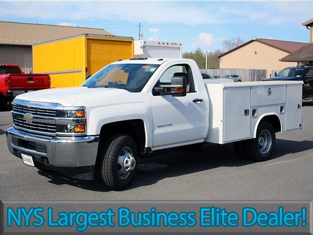2017 Silverado 3500 Regular Cab DRW 4x4, Reading Service Body #17C62T - photo 3