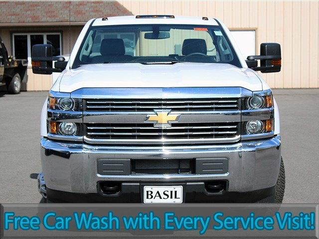 2017 Silverado 3500 Regular Cab DRW 4x4, Reading Classic II Steel Service Body #17C62T - photo 4