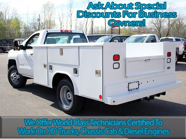 2017 Silverado 3500 Regular Cab DRW 4x4, Reading Service Body #17C62T - photo 6