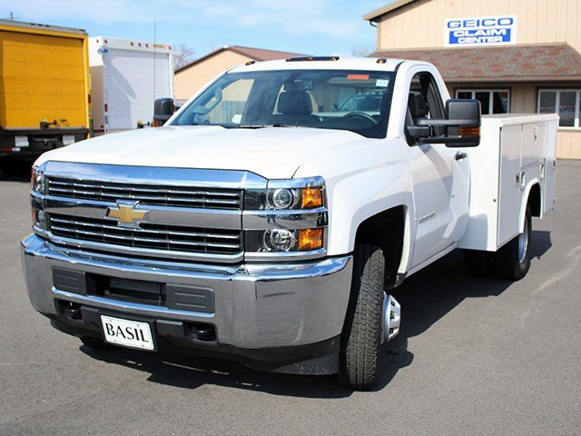 2017 Silverado 3500 Regular Cab DRW 4x4, Reading Service Body #17C62T - photo 7