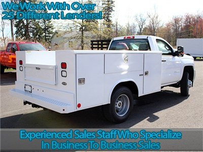 2017 Silverado 3500 Regular Cab DRW 4x4, Reading Classic II Steel Service Body #17C62T - photo 2