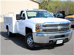 2017 Silverado 3500 Regular Cab DRW 4x4, Reading Classic II Steel Service Body #17C62T - photo 8