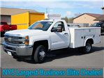 2017 Silverado 3500 Regular Cab DRW 4x4, Reading Classic II Steel Service Body #17C62T - photo 3