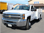 2017 Silverado 3500 Regular Cab DRW 4x4, Reading Classic II Steel Service Body #17C62T - photo 7