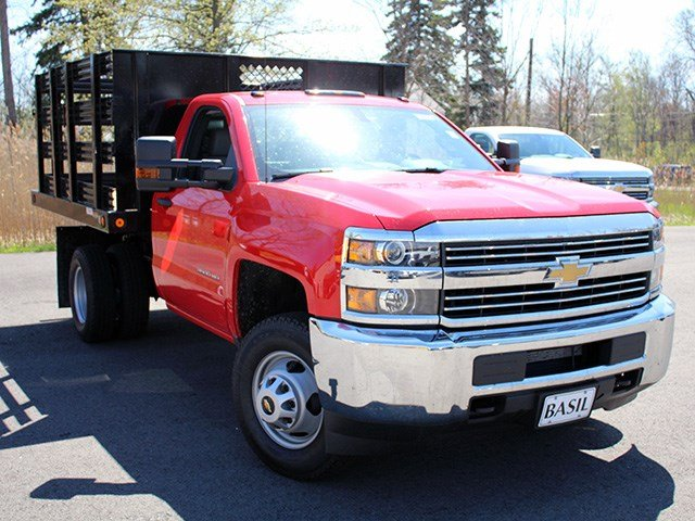 2017 Silverado 3500 Regular Cab DRW 4x4, Reading Stake Bed #17C63T - photo 10