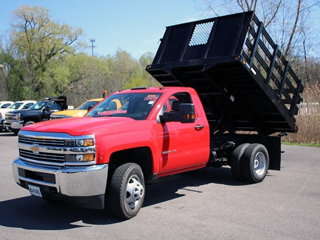 2017 Silverado 3500 Regular Cab DRW 4x4, Reading Stake Bed #17C63T - photo 13