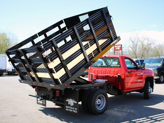2017 Silverado 3500 Regular Cab DRW 4x4, Reading Stake Bed #17C63T - photo 12