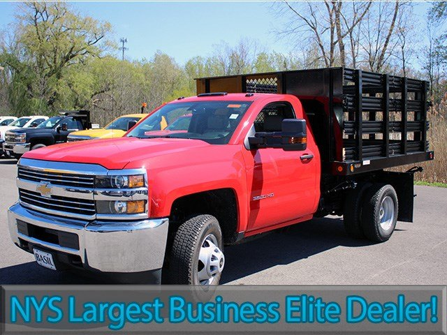 2017 Silverado 3500 Regular Cab DRW 4x4, Reading Stake Bed #17C63T - photo 3