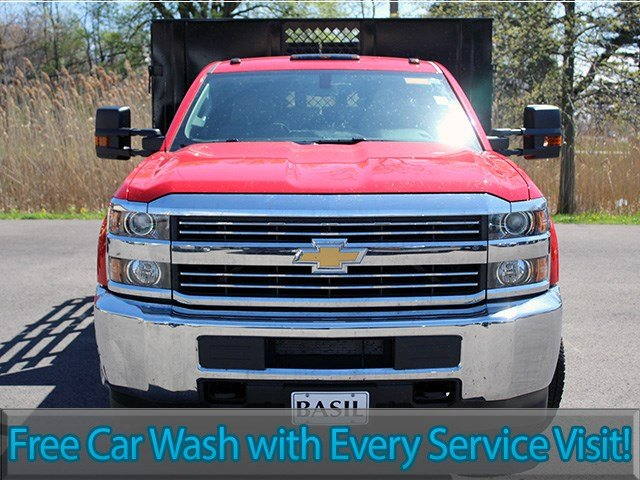 2017 Silverado 3500 Regular Cab DRW 4x4, Reading Stake Bed #17C63T - photo 4