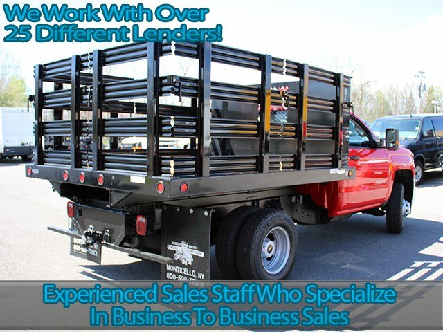 2017 Silverado 3500 Regular Cab DRW 4x4, Reading Stake Bed #17C63T - photo 2