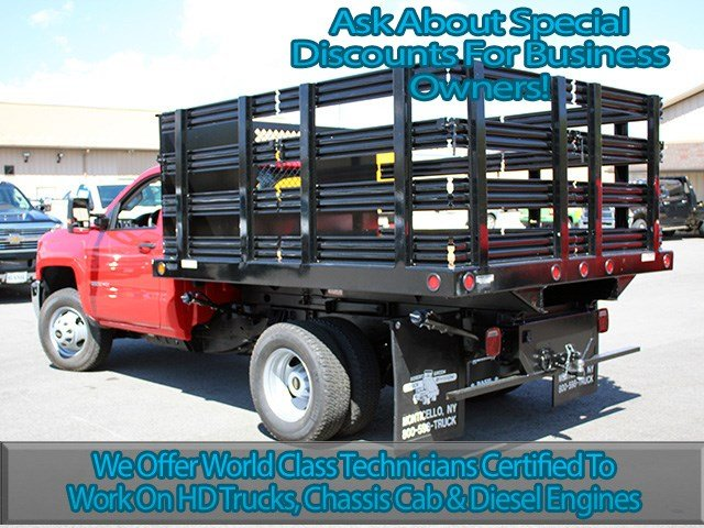 2017 Silverado 3500 Regular Cab DRW 4x4, Reading Stake Bed #17C63T - photo 6