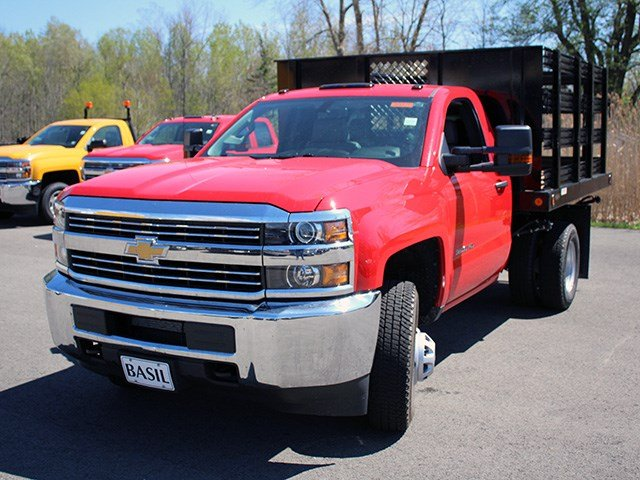 2017 Silverado 3500 Regular Cab DRW 4x4, Reading Stake Bed #17C63T - photo 8
