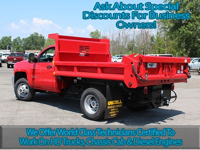 2017 Silverado 3500 Regular Cab DRW 4x4, Air-Flo Dump Body #17C76T - photo 6