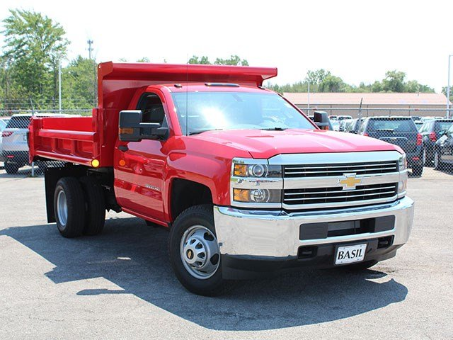 2017 Silverado 3500 Regular Cab DRW 4x4, Air-Flo Dump Body #17C76T - photo 8