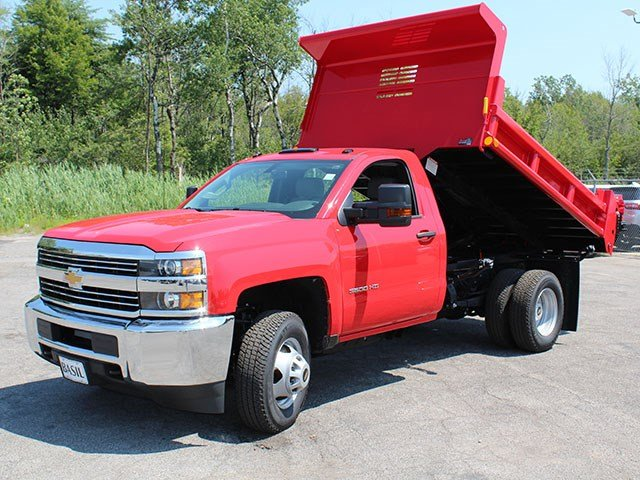 2017 Silverado 3500 Regular Cab DRW 4x4, Air-Flo Dump Body #17C76T - photo 10
