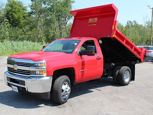 2017 Silverado 3500 Regular Cab DRW 4x4, Air-Flo Dump Body #17C76T - photo 11