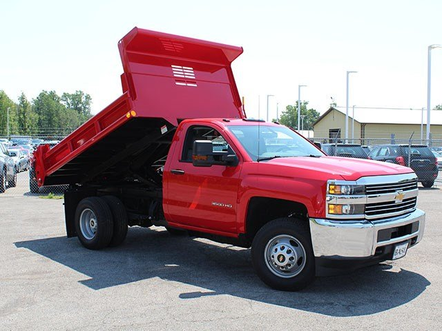2017 Silverado 3500 Regular Cab DRW 4x4, Air-Flo Dump Body #17C76T - photo 13