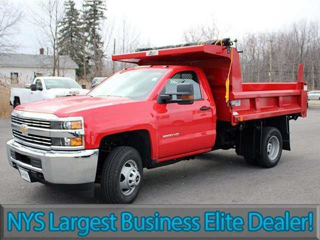 2017 Silverado 3500 Regular Cab 4x4, Rugby Dump Body #17C90T - photo 3