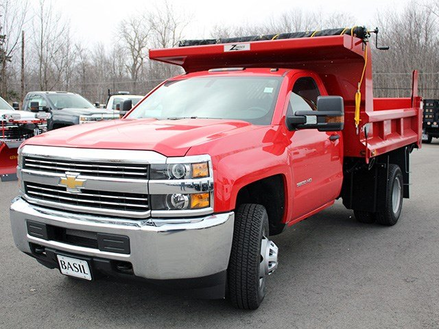 2017 Silverado 3500 Regular Cab 4x4, Rugby Dump Body #17C90T - photo 7