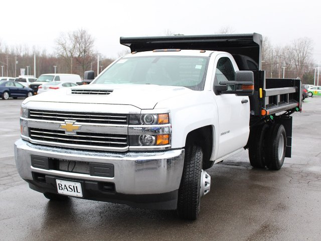 2018 Silverado 3500 Regular Cab DRW 4x4,  Air-Flo Dump Body #18C119T - photo 9