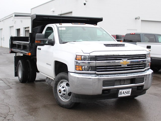 2018 Silverado 3500 Regular Cab DRW 4x4, Dump Body #18C119T - photo 10