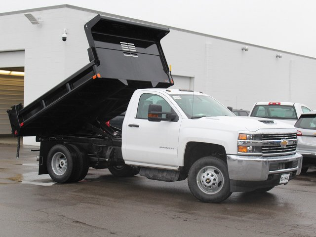 2018 Silverado 3500 Regular Cab DRW 4x4,  Air-Flo Dump Body #18C119T - photo 12