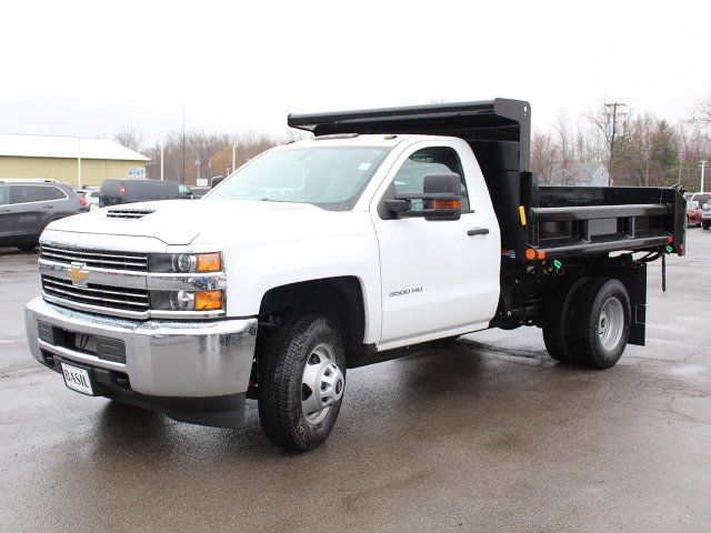 2018 Silverado 3500 Regular Cab DRW 4x4,  Air-Flo Dump Body #18C119T - photo 3