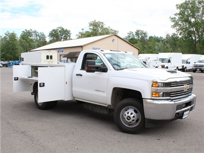 2018 Silverado 3500 Regular Cab DRW 4x4,  Knapheide Standard Service Body #18C120T - photo 19