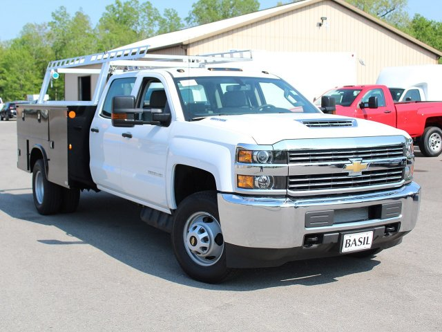 2018 Silverado 3500 Crew Cab DRW 4x4, Service Body #18C144T - photo 7
