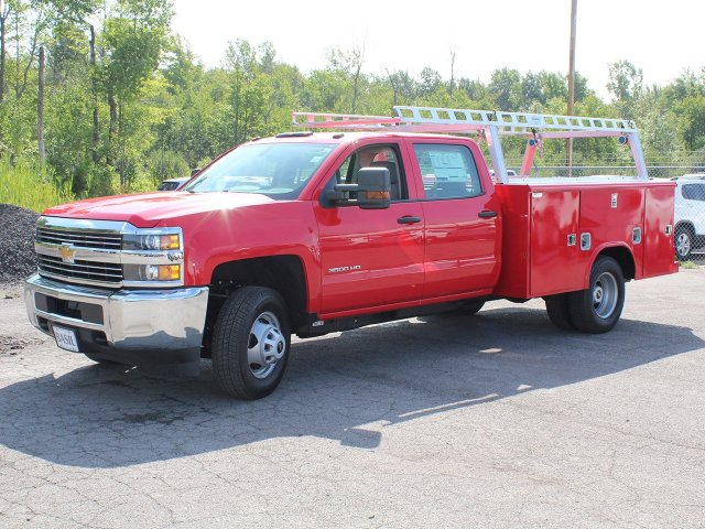 2018 Silverado 3500 Crew Cab DRW 4x4,  Reading Service Body #18C172T - photo 3