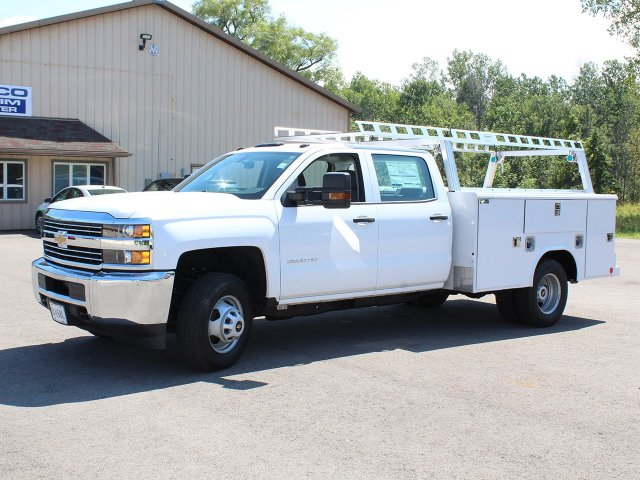 2018 Silverado 3500 Crew Cab DRW 4x4,  Reading Service Body #18C173T - photo 3