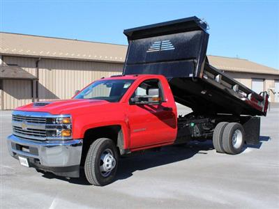 2018 Silverado 3500 Regular Cab DRW 4x4,  Crysteel E-Tipper Dump Body #18C216T - photo 14