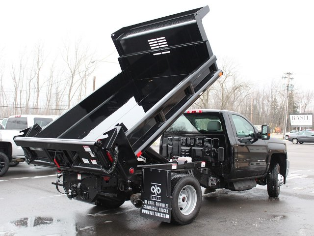 2018 Silverado 3500 Regular Cab DRW 4x4, Air-Flo Dump Body #18C51T - photo 12