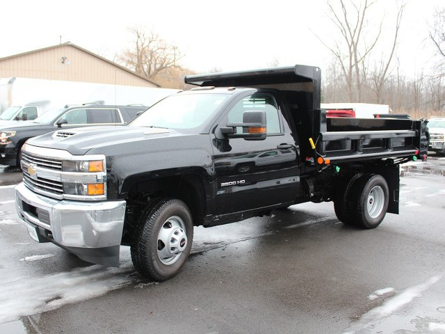 2018 Silverado 3500 Regular Cab DRW 4x4, Air-Flo Dump Body #18C51T - photo 4